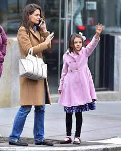 Well-dressed kid: Suri, 11, can look forward to wearing the colleciton one day...
