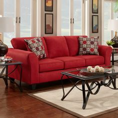 Get Information On Chelsea Home Furniture Lehigh Sofa Patriot Red.