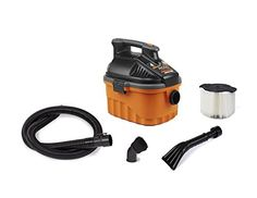 RIDGID Wet Dry Vacuums VAC4000 Powerful and Portable Wet Dry Vacuum Cleaner Includes 4Gallon 50 Peak Horsepower Wet Dry Auto Vacuum Cleaner for Car Dusting Brush Car Nozzle and Claw Nozzle >>> For more information, visit image affiliate link Amazon.com