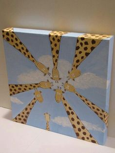 Giraffe canvas painting