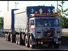 Un vecchio camion Fiat con un semirimorchio da infarto .... Onore a Corriere Rosa - YouTube