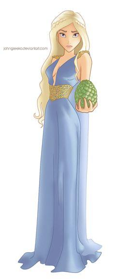 DISNEYFIED: Daenerys Targaryen by johngreeko