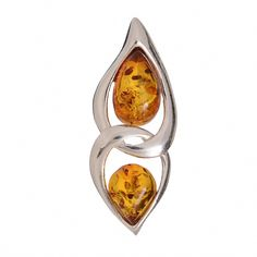 """Picture of Sterling Silver and Baltic Honey Amber Pendant """"Gianna"""" Amber Earrings, Amber Bracelet, Sterling Silver Chains, Sterling Silver Pendants, Baltic Amber Jewelry, Irish Jewelry, Amber Ring, Silver Pendant Necklace, Jewelry Shop"""