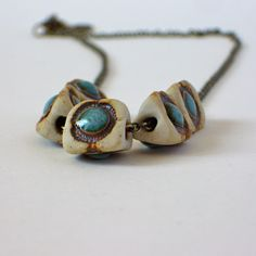 forest eyes.  earthy ceramic beads
