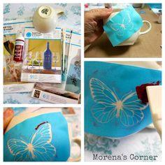 morena's corner: Anthro Inspired Mug made with Martha Stewart Glass Paints