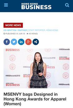 MsEnvy Press ~ Hong Kong Business Magazine 2018 Jun