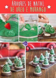Árvores de Natal feitas com Oreo e morangos | Shopfesta