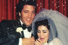 Elvis Presley And Priscilla Presley On Their Wedding Day...They look so happy :)
