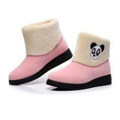 [US$49.86] WADNASO Winter New Women Keep Warm Plush Cattoon Cartoon Panda Fashion Ankle Short Snow Boots #wadnaso #winter #women #keep #warm #plush #cattoon #cartoon #panda #fashion #ankle #short #snow #boots