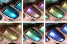 China Glaze – New Bohemian Luster Chrome Collection for Fall 2012: Swatches and Review by Jeanette