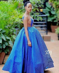 Classy Shweshwe fashion Dresses for 2020 African Print Wedding Dress, African Wedding Attire, African Print Dresses, African Print Fashion, African Attire, African Fashion Dresses, African Dress, African Wear, African Traditional Wedding Dress