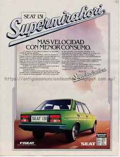 Fiat Cars, Cars 1, Cadillac, Nostalgia, Classic Cars, Automobile, Barcelona, Vintage Branding, Old Bikes
