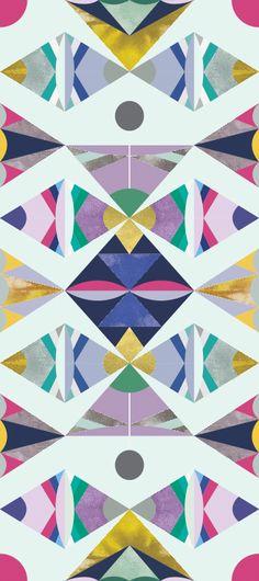 Pattern: Coconino / Color: Cactus Bloom.  ©Timothy Sue  #UniquePattern #WallpaperDesign
