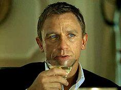 Daniel Craig as James Bond in Casino Royale enjoying his Vesper Martini. Shaken, not stirred. James Bond, Daniel Craig, Craig 007, Craig James, Rachel Weisz, Perfect Martini, What Does It Say, Shaken Not Stirred, Best Bond