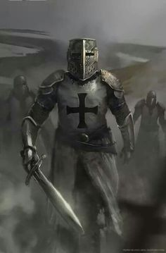 Discover Knight Templar Warrior Sweatshirt from Knights Templar Men's Clothing, a custom product made just for you by Teespring. - Beautiful and quality Knight Templar. Knight In Shining Armor, Knight Armor, Medieval Knight, Medieval Fantasy, Paladin, Vikings, Illustration Fantasy, Crusader Knight, Christian Warrior