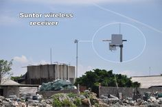 Suntor wireless receiver at  mariculture zone with 10km range