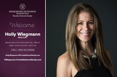 BERKSHIRE HATHAWAY HOMESERVICES FLORIDA NETWORK REALTY WELCOMES HOLLY WIEGMANN