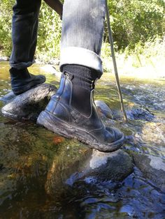 Exploring the streams at Jackson Park, Peterborough, ON. Blundstones are the perfect match for our love of the outdoors. #YourBoots