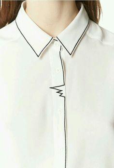 Minimal white shirt