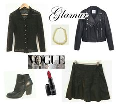 """""""Lace & Leather outfit"""" by shirlygold on Polyvore featuring MANGO"""