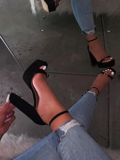 HEELS / WEDGES – Page 4 – shopofficialbee high heels for prom high heels with dress classic black high heels high heels platform high heels with strap high heels outfit Cute Womens Shoes, Trendy Shoes, Stylish Clothes, Fancy Shoes, Cute Shoes, Aesthetic Shoes, Black High Heels, Shoes High Heels, Cute Black Heels