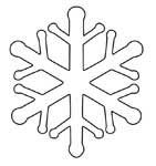 Snowflake templates and crafts