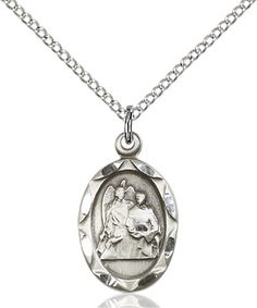 St. Raphael the Archangel Pendant (Sterling Silver) by Bliss | Catholic Shopping .com
