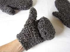 Designed to fit just past base of the wrist, but you'll have enough yarn to make them longer!