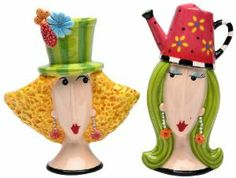 Appletree Design Garden Lady Salt and Pepper Set, 4-Inch by Appletree Design inc. $18.06. Ceramic and dolamite material. constructed with quality and durability in mind.. Unique and colorful, add fun and whimsy to your kitchen and home décor. Comes gift boxed, will make a great gift for yourself or someone special. Functional and decorative salt and pepper set. Hand wash only, do not put in dishwasher. Appletree Design is noted for its collection of whimsical and colorf...