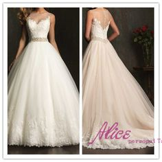 Find More Wedding Dresses Information about 2014 White Ivory Lace Wedding Dress Custom Dresses Scoop Beading Sleeveless Floor Length Vestido De Noiva with Sweep Train,High Quality dresses evening,China dress exotic Suppliers, Cheap dress ice from Alice Wedding Dresses International co., LTD. on Aliexpress.com