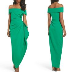 Off the Shoulder Crepe Gown A slender crepe gown topped with a graceful, off-the-shoulder neckline is softly gathered at the hip into a ruffle that cascades down the skirt for a fluttery finish. Style Name:Vince Camuto Off The Shoulder Crepe Gown.... #gowns #dresses #dressingwithdignity #dressingtable #beauty #beautytips #fashion #fashionistas #fashionnova