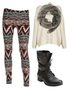 """Aztec Leggings & Jumper"" by jkhames ❤ liked on Polyvore featuring Marc by Marc Jacobs, Faliero Sarti, Steve Madden, women's clothing, women, female, woman, misses, juniors and aztec leggings"