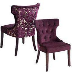 Pier 1 Imports Hourglass Dining Chair - Purple Damask (8 total).