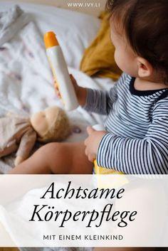 Achtsame Körperpflege mit einem Kleinkind | Sanfte Pflege mit der Weleda Calendula Baby Pflegeserie | Bindung stärken durch Berührung | Baden & Duschen | Wickeln | Cremen | Babymassage | ivy.li