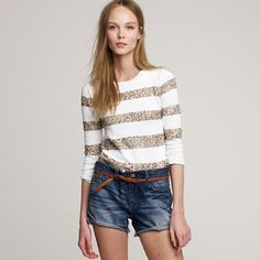 Spangled Stripe Sweater from J. Crew
