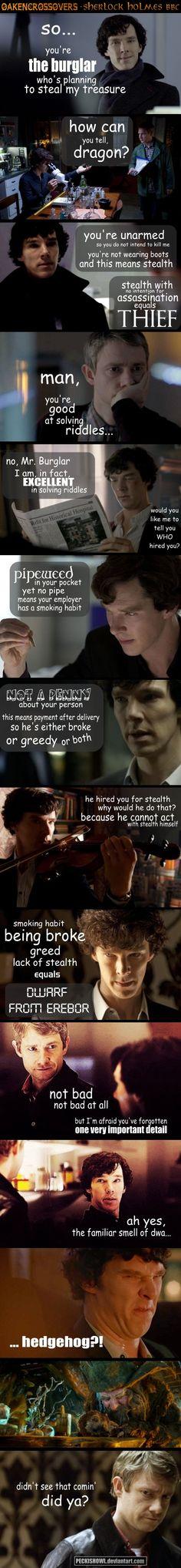 Oakencrossover #14: Sherlock Holmes by *PeckishOwl on deviantART