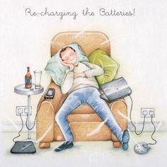 Recharging the Batteries , Ladies Who Love Life ... Berni Parker funny cute Berni Parker | Berni Parker -