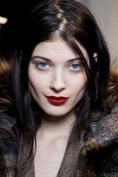 Max Mara Beauty A/W '14 :: berry lips #lipstick #makeup