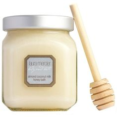 Laura Mercier Almond Coconut Milk Honey Bath (60 AUD) ❤ liked on Polyvore featuring beauty products, bath & body products, body cleansers, beauty, fillers, makeup, cosmetics, body, no color and laura mercier
