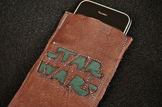 Water Hardened Leather Jawa Brown Star Wars Cell by tickletrunk, $20.00