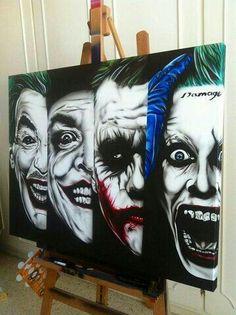 Evoloution of the joker Der Joker, Joker Art, Joker And Harley Quinn, Joker Images, Joker Pics, Joker Drawings, Art Drawings, Comic Books Art, Comic Art