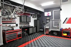 well appointed garage.