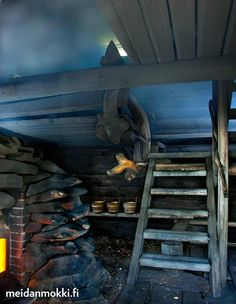 Liki viisi metriä korkean Joukahaisen lauteet ovat kolmessa tasossa