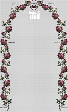 Cross Stitch Rose, Cross Stitch Flowers, Cross Stitch Patterns, Hand Embroidery Stitches, Embroidery Applique, Cross Stitch Christmas Cards, Cross Art, Brazilian Embroidery, Bargello