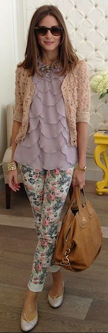 Olivia Palermo..don't normally like this much pastel but i like this for some reason.