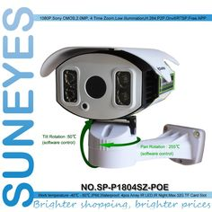 172.72$  Buy now - http://alizd8.worldwells.pw/go.php?t=32278291925 - SunEyes SP-P1804SZ-POE 2.0MP Full HD POE IP Camera 1080P Outdoor Waterproof IP66 PTZ Pan/Tilt/Zoom Control by Software 172.72$