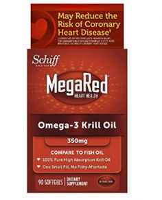 MegaRed Omega 3 Krill Oil Supplement, 90 ct: MegaRed Omega 3 Krill Oil supplements provide of pure krill oil, including an optimal combination of Omega 3 fatty acids, phospholipids, and the powerful antioxidant astaxanthin to support your heart health. Omega 3, Krill Oil, Bodybuilding Supplements, Natural Supplements, Fish Oil, Nutritional Supplements, Herbalism, Pure Products, Amazon Products