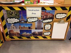 Construction Area Ideas, Construction Area Early Years, Construction Eyfs, Early Years Maths, Early Years Classroom, Eyfs Classroom, Classroom Layout, Early Years Displays, Nursery Display Boards