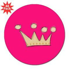 "Crown 3"" Lapel Sticker (48 Pk)> crown> HAPPINESS RUSH"