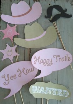 Cowgirl or Cowboy Western Themed Photo Booth by EllaJaneCrafts